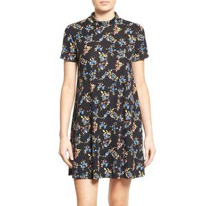 NWOT Lush Ribbed S/S Mock Neck Floral Dress
